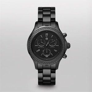 Michele Jetway Diamond Noir Ceramic Watch